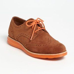 Cole Haan Lunargrand Wing Tip Lace Up Oxford Shoes